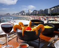Πίνακας μεσημεριανού γεύματος στο Ρίο ντε Τζανέιρο Στοκ Εικόνες