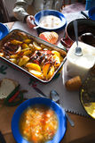 πίνακας μεσημεριανού γεύματος Στοκ εικόνα με δικαίωμα ελεύθερης χρήσης