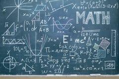 Πίνακας με μαθηματικό στοκ εικόνες με δικαίωμα ελεύθερης χρήσης