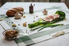 Πίνακας με τα τρόφιμα τυποποιημένα Στοκ φωτογραφία με δικαίωμα ελεύθερης χρήσης
