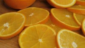 Πίνακας με τα φρέσκα πορτοκάλια φιλμ μικρού μήκους