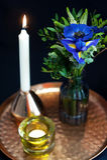 Πίνακας που θέτει με τα μπλε anemones Στοκ φωτογραφίες με δικαίωμα ελεύθερης χρήσης