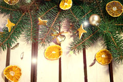 Πίνακας που διακοσμείται ξύλινος για το νέο έτος Στοκ εικόνες με δικαίωμα ελεύθερης χρήσης