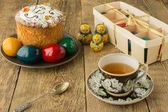 Πίνακας που τίθεται για τον εορτασμό Πάσχας στοκ εικόνα