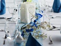 Πίνακας που τίθεται για το κόμμα γευμάτων Στοκ εικόνα με δικαίωμα ελεύθερης χρήσης