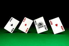πίνακας πόκερ άσσων Στοκ Εικόνες