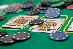 πίνακας πόκερ Στοκ φωτογραφίες με δικαίωμα ελεύθερης χρήσης