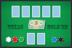 πίνακας πόκερ διανυσματική απεικόνιση