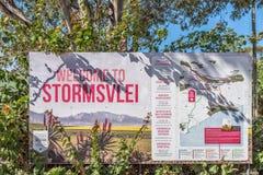 Πίνακας πληροφοριών σε Stormsvlei στοκ φωτογραφίες