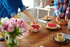 Πίνακας ρύθμισης Gourmets Στοκ φωτογραφία με δικαίωμα ελεύθερης χρήσης
