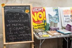 Πίνακας σε έναν αντι στάβλο UKIP Στοκ φωτογραφίες με δικαίωμα ελεύθερης χρήσης