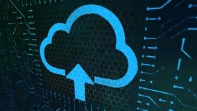 Πίνακας σημαδιών πορτοφολιών με το μπλε σύννεφο Στοκ Φωτογραφία