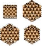 πίνακας σκακιού διάφορος Στοκ εικόνες με δικαίωμα ελεύθερης χρήσης
