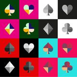 Πίνακας σκακιού κοστουμιών καρτών Στοκ Εικόνα