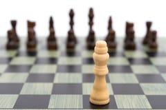 Πίνακας σκακιού με τα άσπρα πρόσωπα βασιλιάδων στους Μαύρους Στοκ φωτογραφίες με δικαίωμα ελεύθερης χρήσης