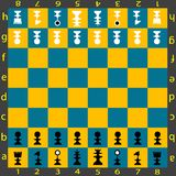 πίνακας σκακιού Στοκ εικόνα με δικαίωμα ελεύθερης χρήσης