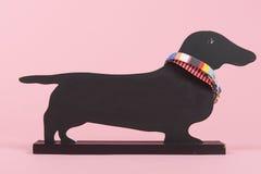 Πίνακας σκυλιών στο ροζ Στοκ εικόνα με δικαίωμα ελεύθερης χρήσης