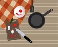 Πίνακας στην κουζίνα απεικόνιση αποθεμάτων