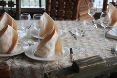 Πίνακας στο εστιατόριο δύο στοκ φωτογραφία