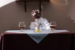 Πίνακας στο εστιατόριο Στοκ φωτογραφίες με δικαίωμα ελεύθερης χρήσης