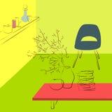 Πίνακας στο καθιστικό Στοκ Εικόνες