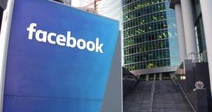 Πίνακας συστημάτων σηματοδότησης οδών με την επιγραφή Facebook φιλμ μικρού μήκους