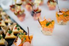 Πίνακας τομέα εστιάσεως με τα τρόφιμα Στοκ Φωτογραφία
