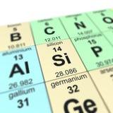 Πίνακας του elements_Silicon Στοκ Εικόνα