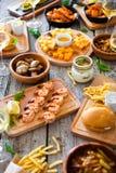 Πίνακας τροφίμων και ποτών, που απολαμβάνει Dinning που τρώει την έννοια Στοκ φωτογραφία με δικαίωμα ελεύθερης χρήσης