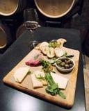 Πίνακας τυριών και κρέατος Στοκ Εικόνα