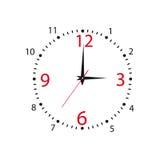 Πίνακας των ωρών. Διανυσματική απεικόνιση Στοκ Εικόνες