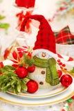 Πίνακας Χριστουγέννων που τίθεται με τον αστείο χιονάνθρωπο Στοκ Εικόνες