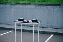 Πίνακας Armwrestling υπαίθριος Στοκ φωτογραφία με δικαίωμα ελεύθερης χρήσης