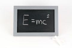 Πίνακας EMC με την κιμωλία Στοκ φωτογραφία με δικαίωμα ελεύθερης χρήσης
