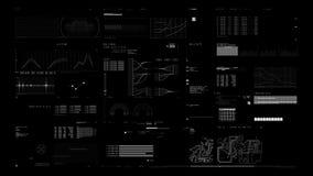 πίνακας 4K HUD διανυσματική απεικόνιση
