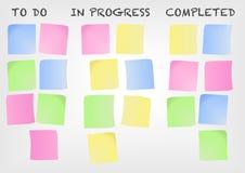 Πίνακας Kanban για παράδειγμα για μια σύγχρονη μεθοδολογία διαχείρισης του προγράμματος ελεύθερη απεικόνιση δικαιώματος