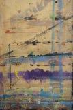 Πίνακας Painterπου καταβρέχεται με το υπόβαθρο 16 χρωμάτων Στοκ Εικόνες
