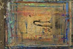 Πίνακας Painterπου καταβρέχεται με το υπόβαθρο 10 χρωμάτων Στοκ Φωτογραφίες