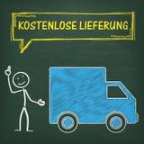 Πίνακας Stickman Kostenlose Lieferung Στοκ φωτογραφία με δικαίωμα ελεύθερης χρήσης