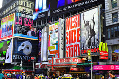Πίνακες διαφημίσεων της Times Square Στοκ εικόνα με δικαίωμα ελεύθερης χρήσης