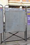 Πίνακες εκλογής στο Παρίσι, Γαλλία Στοκ εικόνες με δικαίωμα ελεύθερης χρήσης