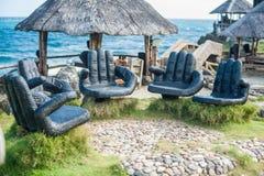 Πίνακες στην παραλία, Boracay Φιλιππίνες Στοκ φωτογραφία με δικαίωμα ελεύθερης χρήσης