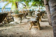 Πίνακες στην παραλία, Boracay Φιλιππίνες Στοκ Φωτογραφίες