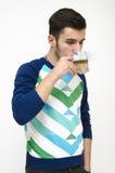 πίνοντας έφηβος καφέ Στοκ Εικόνες