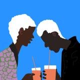Πίνοντας αγόρια Στοκ φωτογραφίες με δικαίωμα ελεύθερης χρήσης