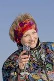πίνοντας γυναίκα Στοκ Φωτογραφίες