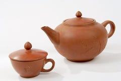 πίνοντας καθορισμένο τσάι Στοκ Εικόνες