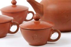 πίνοντας καθορισμένο τσάι Στοκ Εικόνα