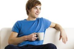 Πίνοντας καφές στοκ εικόνα με δικαίωμα ελεύθερης χρήσης