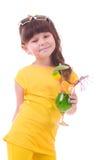 πίνοντας κορίτσι το πράσινο s κοκτέιλ παιδιών Στοκ Εικόνες